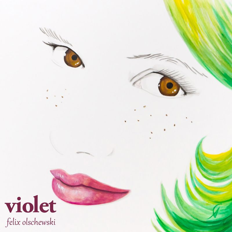 "Cover Art for the song ""Violet"" by Felix Olschewski"
